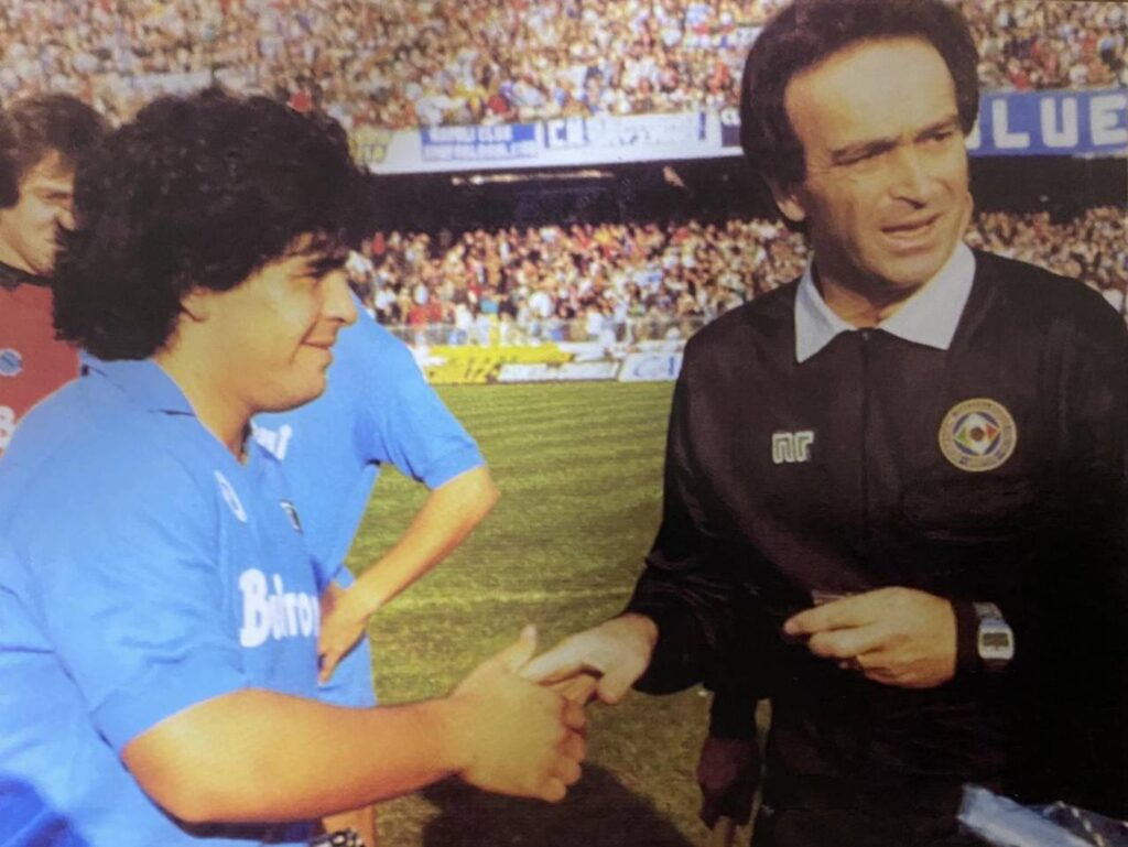 Mattei con Maradona